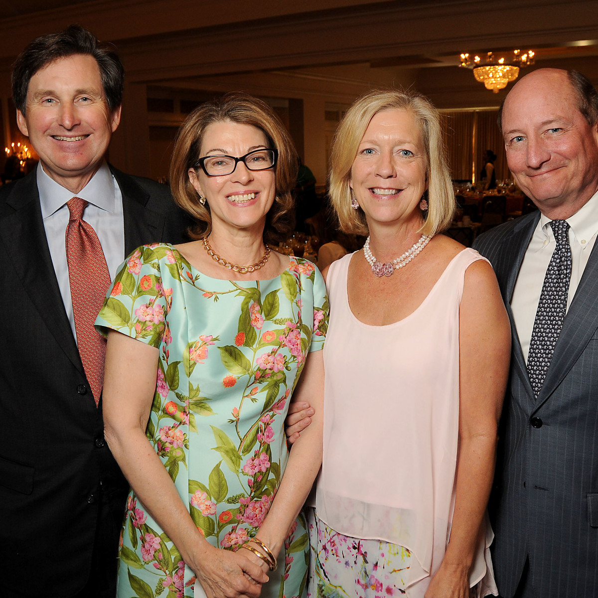 News, Shelby, Houston Botanic Garden Lunch, Sept. 2015, Richard and Martha McDugald wth Emily and Carlton Wilde