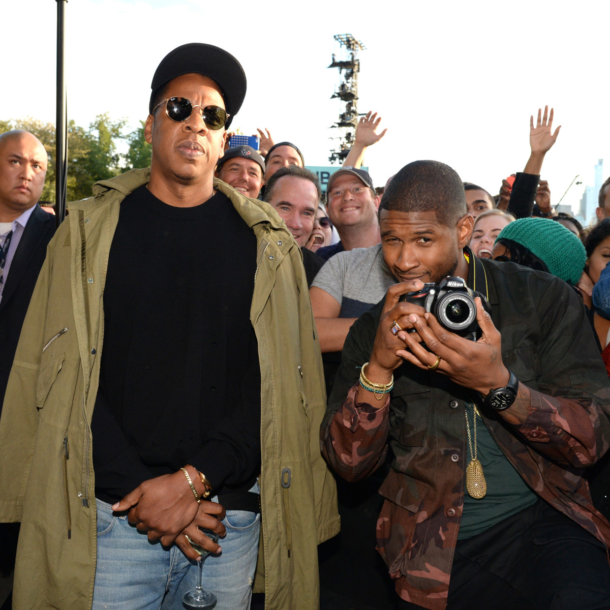 2015 Global Citizens Festival Jay Z and Usher