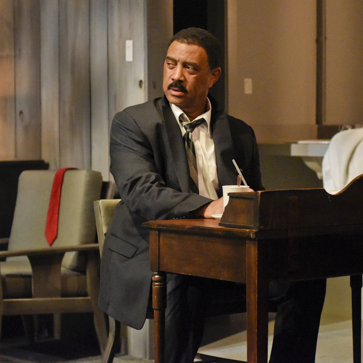 Hassan El-Amin in Dallas Theater Center's The Mountaintop