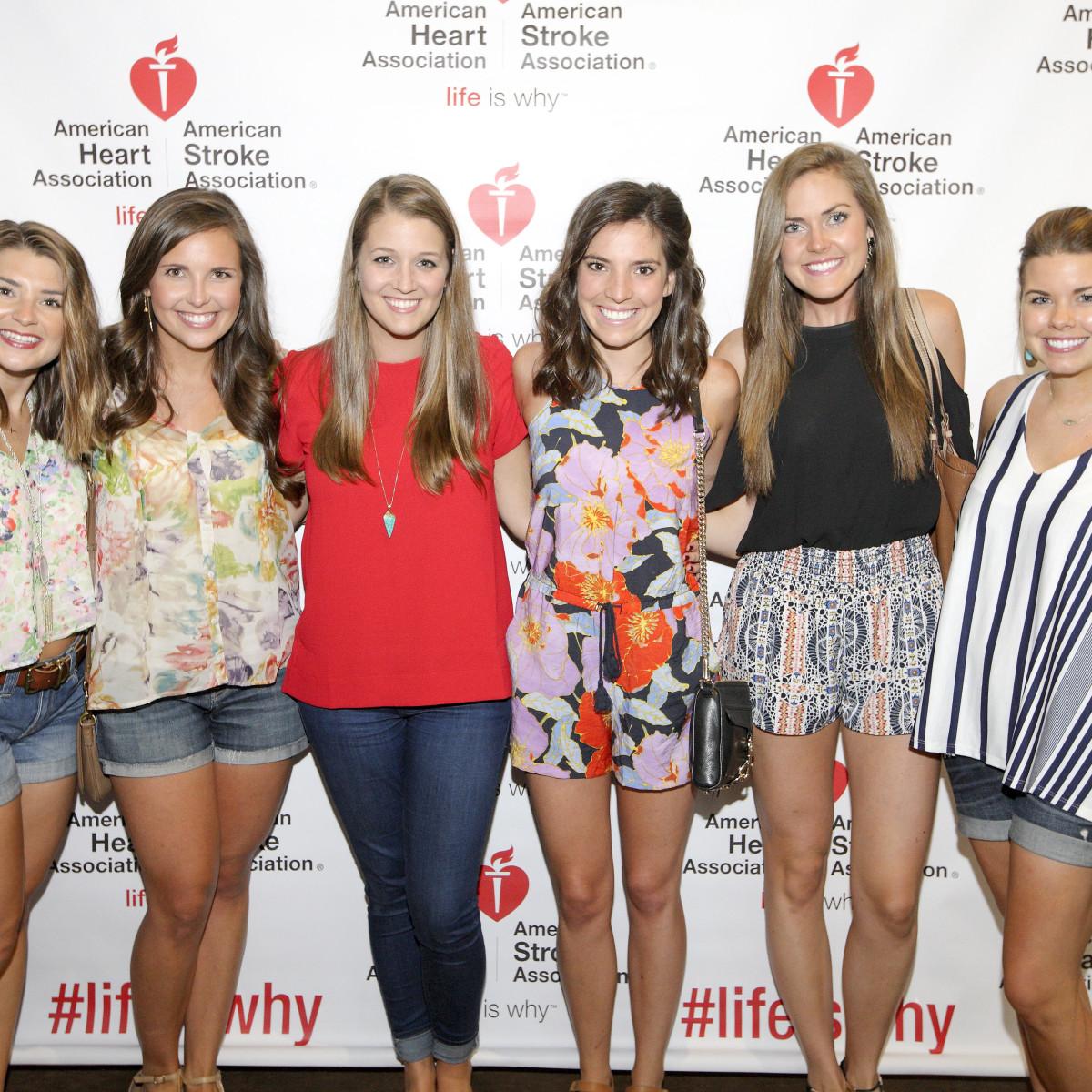 AHA YP mixer Allie Hearth, Shannon O'Connor, Mary Caroline, Allison Kingsley, Lauren Paine, Emily Wilson