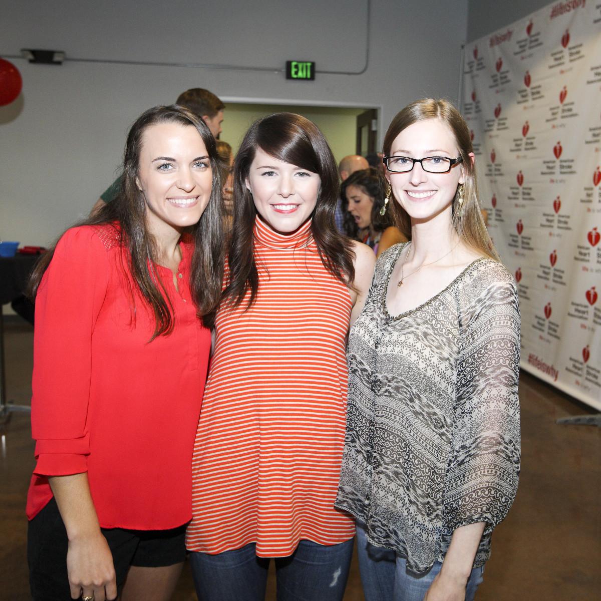 AHA YP mixer Catherine Tate, Emily Mayne, Marie Sullivan