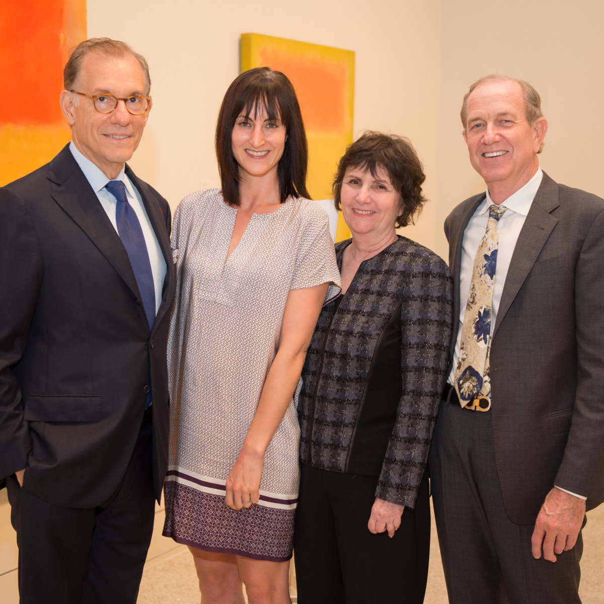News, Shelby, MFAH Rothko opening, Sept. 2015 Gary Tinterow, Emily Church, Leslie Bucher Brad Bucher