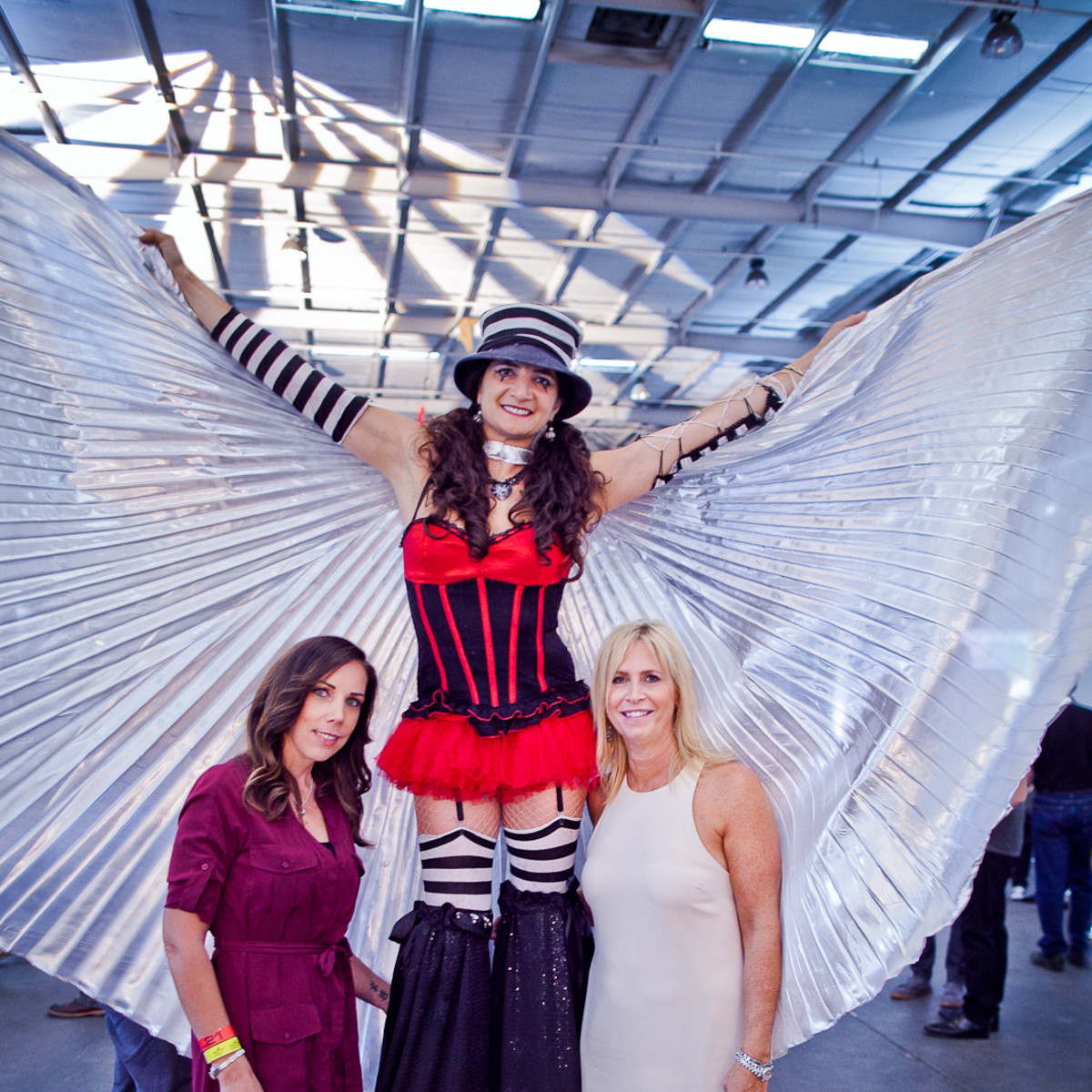News, Joel, Mini Murals, Sept. 2015, Lisa Appleby, Cirque Noir performer, Lauren Valentino