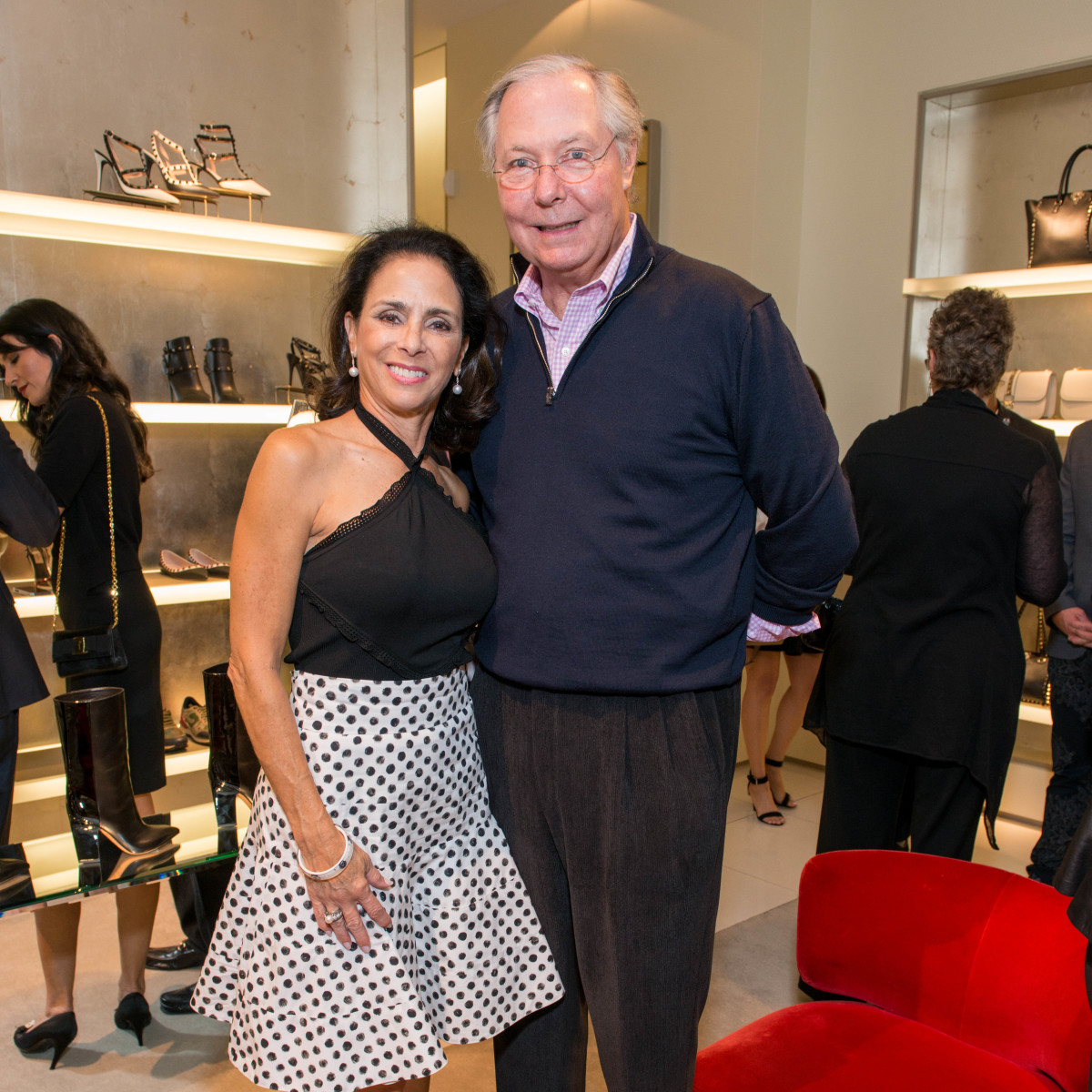 News, Shelby, Heart of Fashion Valentino party, Sept. 2015, Sylvie Crum, Gary Crum