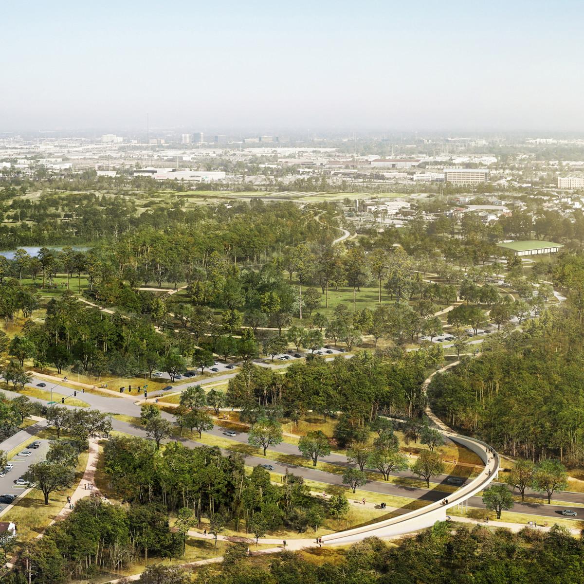 Memorial Park Master Plan Eastern Glades rendering