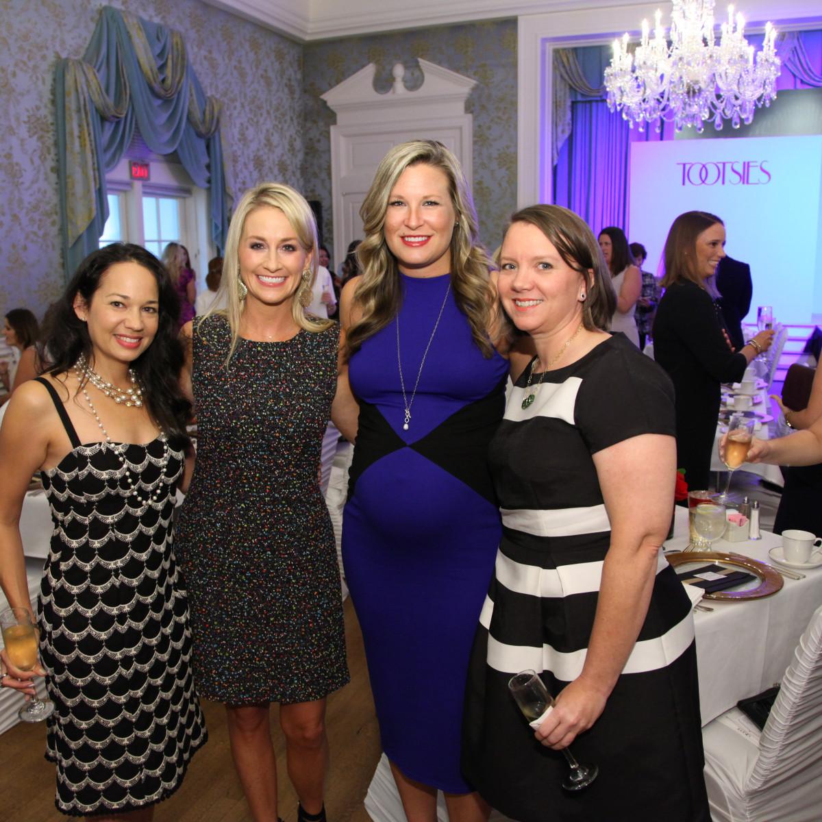 News, Shelby, Junior League Luncheon, Sept. 2015, Cherish Bradshaw, Amy Dunn, Bethany Buchanan, Katie Hackerdorn