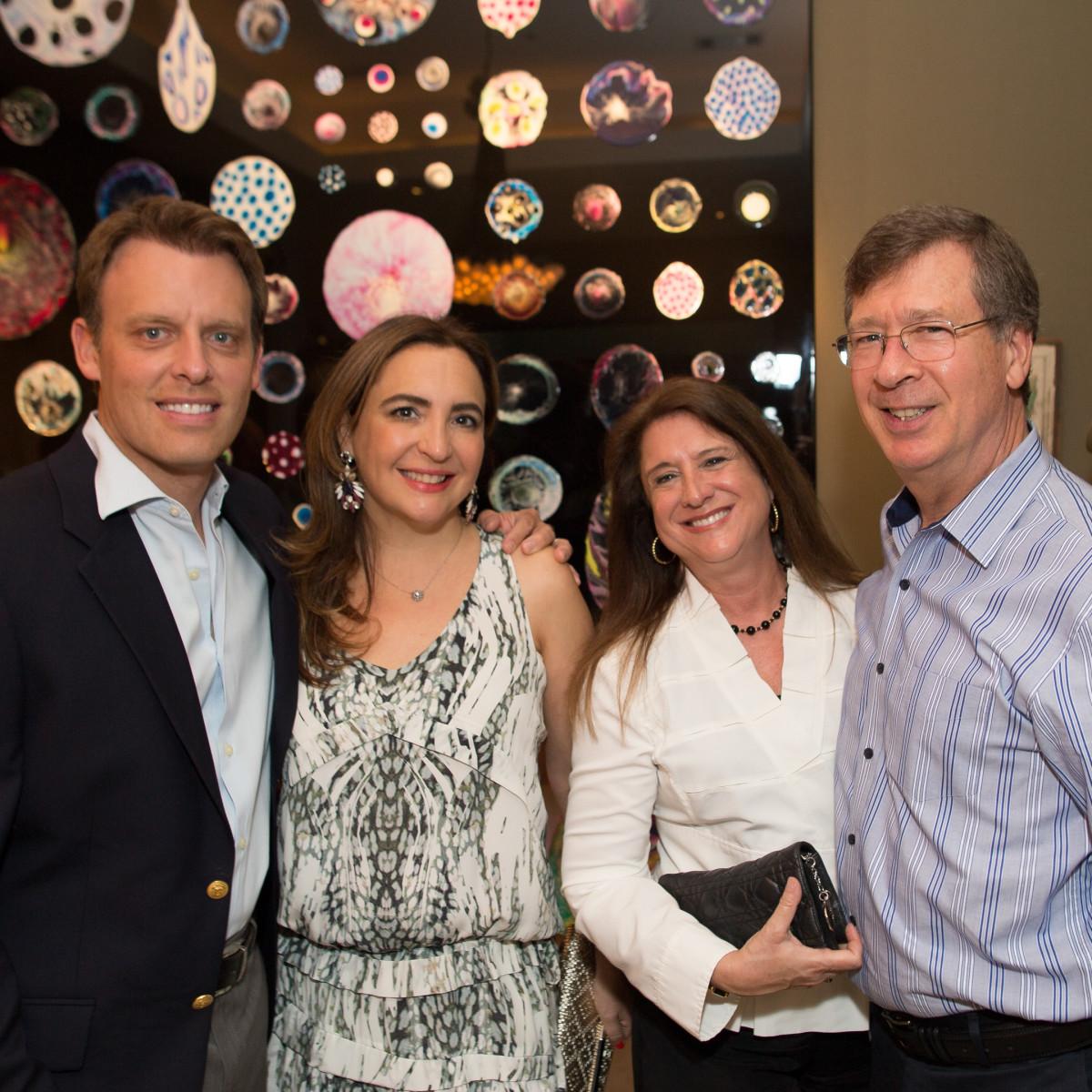 News, Shelby, Fine Art Fair Kick-off, Sept. 2015, Arturo Creixell, Paola Creixell, Deborah Colton, Bill Colton