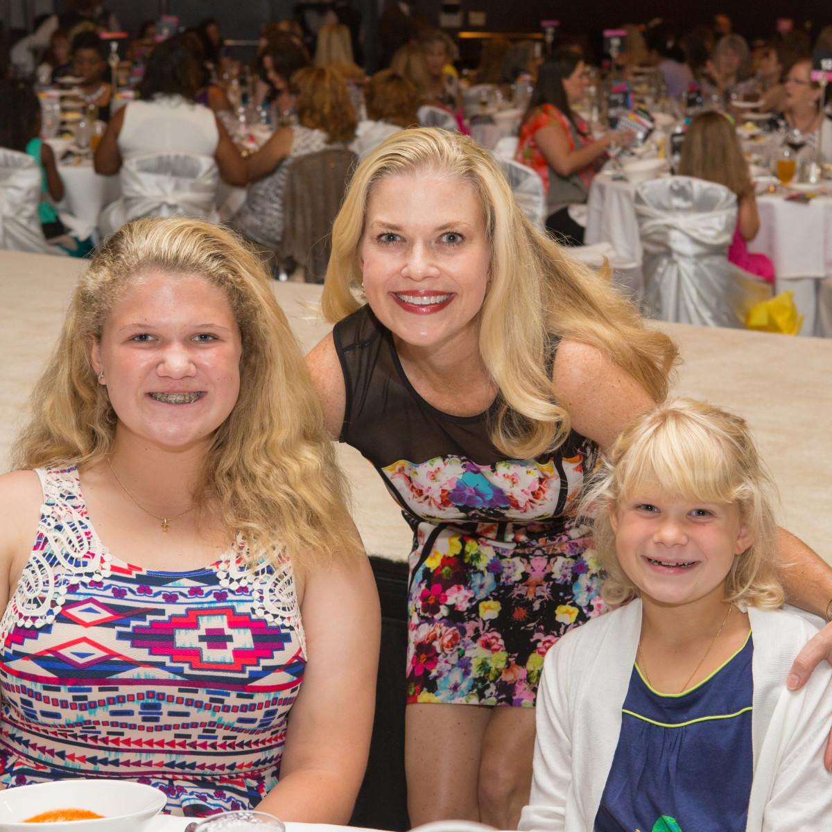 Houston, Woman's Hospital of Texas Labor Day Luncheon, August 2015, Kendall Pierce, Kaitlyn Pierce, Amy Pierce