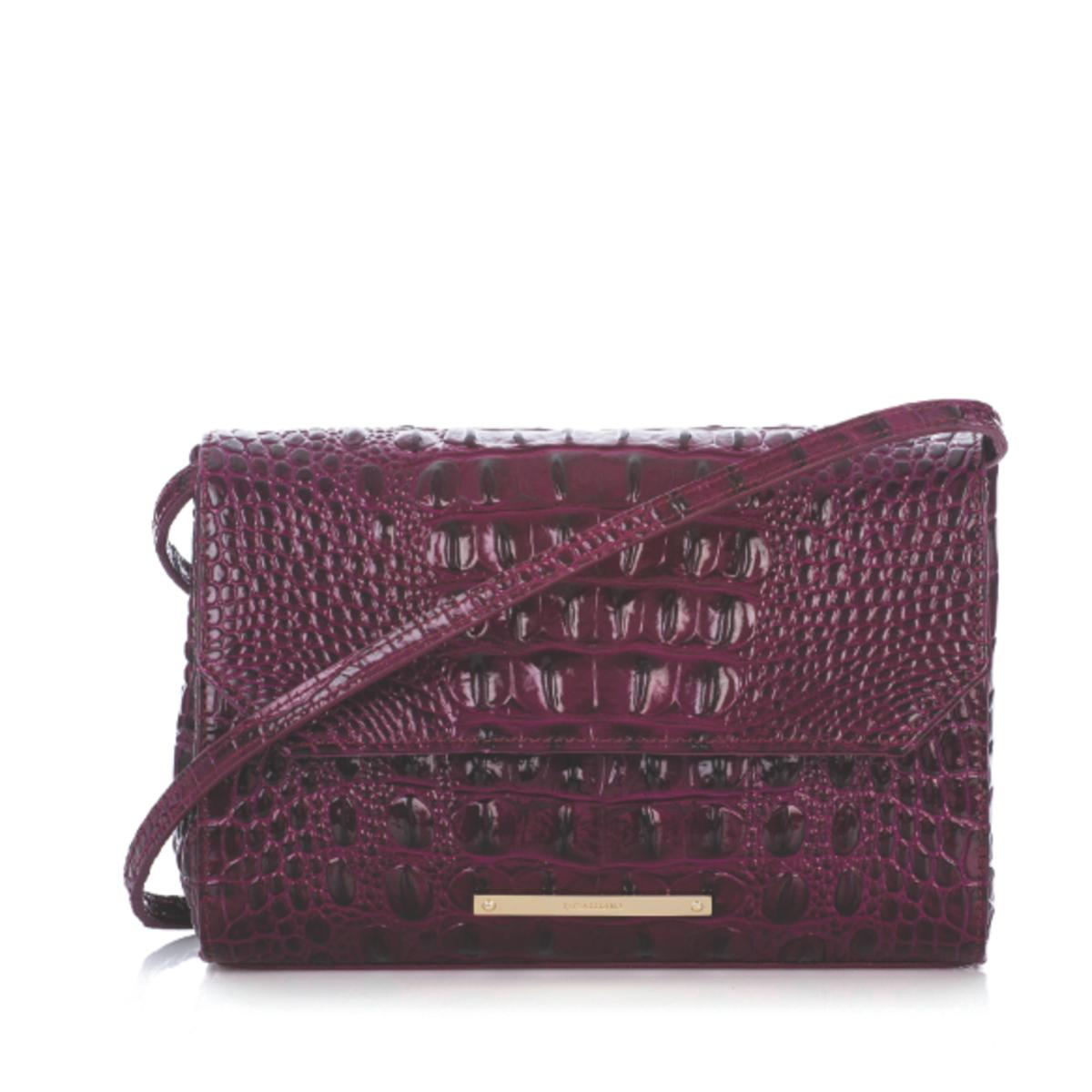 Brahmin Black Cherry Melbourne Carina handbag
