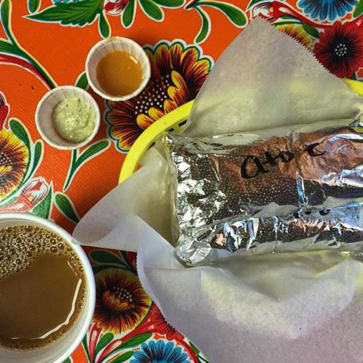 Paco's Taco's taco foil coffee Austin restaurant