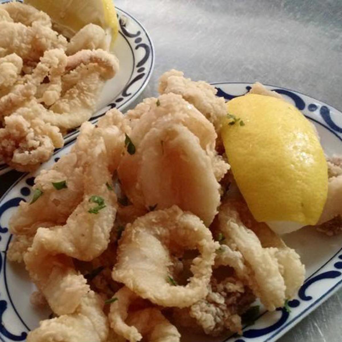 Calamari at Cafe Madrid