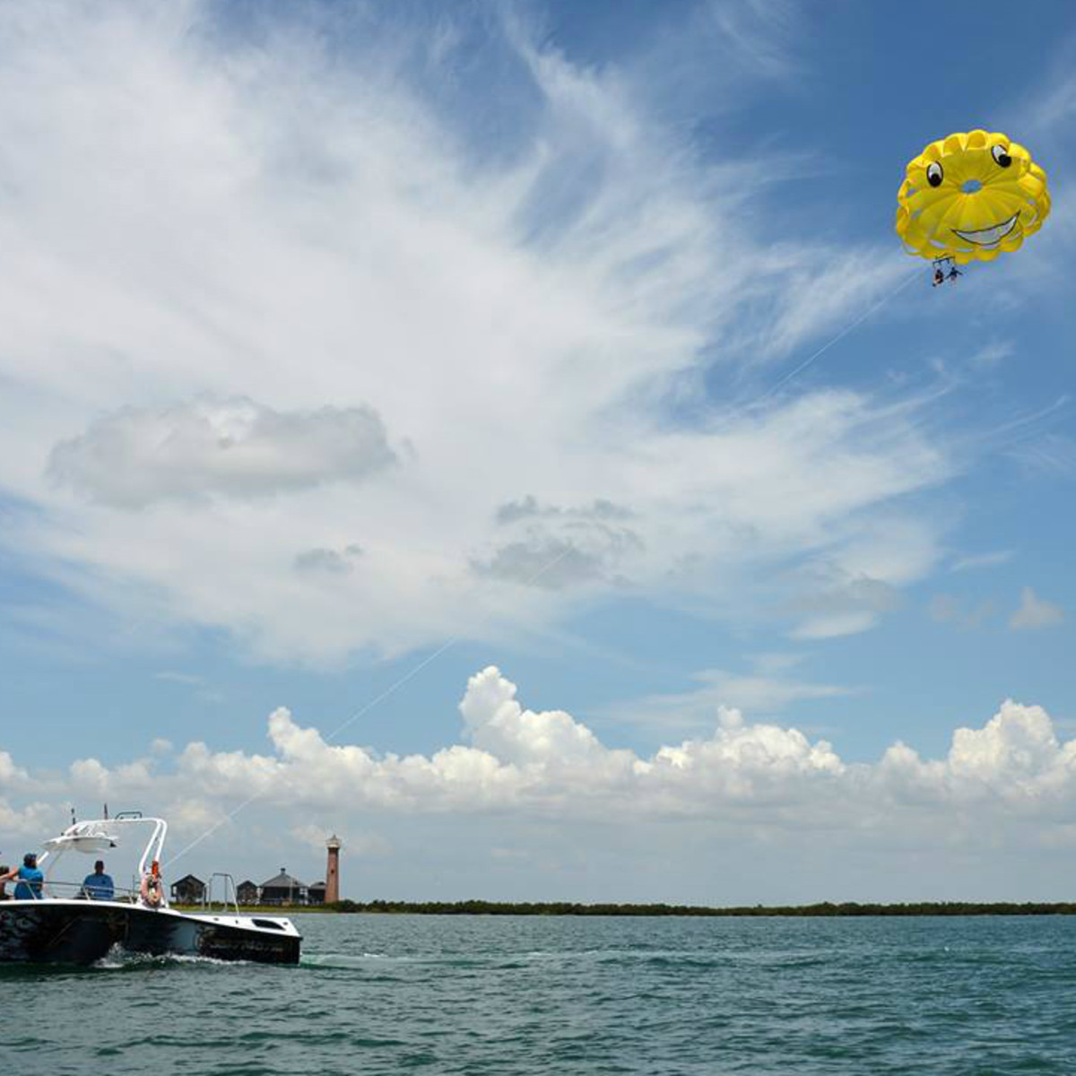 Chute Em Up Parasailing Port Aransas Gulf of Mexico boat