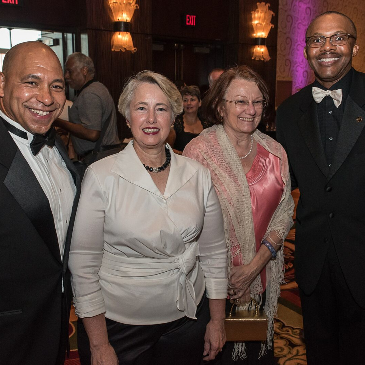 News, Shelby, Ensemble Theatre gala, Aug. 2015, Scott Minnix, Annise Parker, Kathy Hubbard, Michael J. Helm