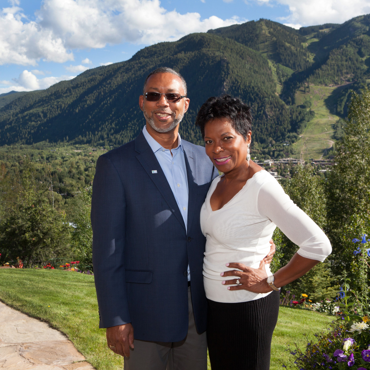 Houston, St. Luke's Foundation Summer Speaker Series Aspen, August 2015, Kevin Lofton and Sabrina Shannon