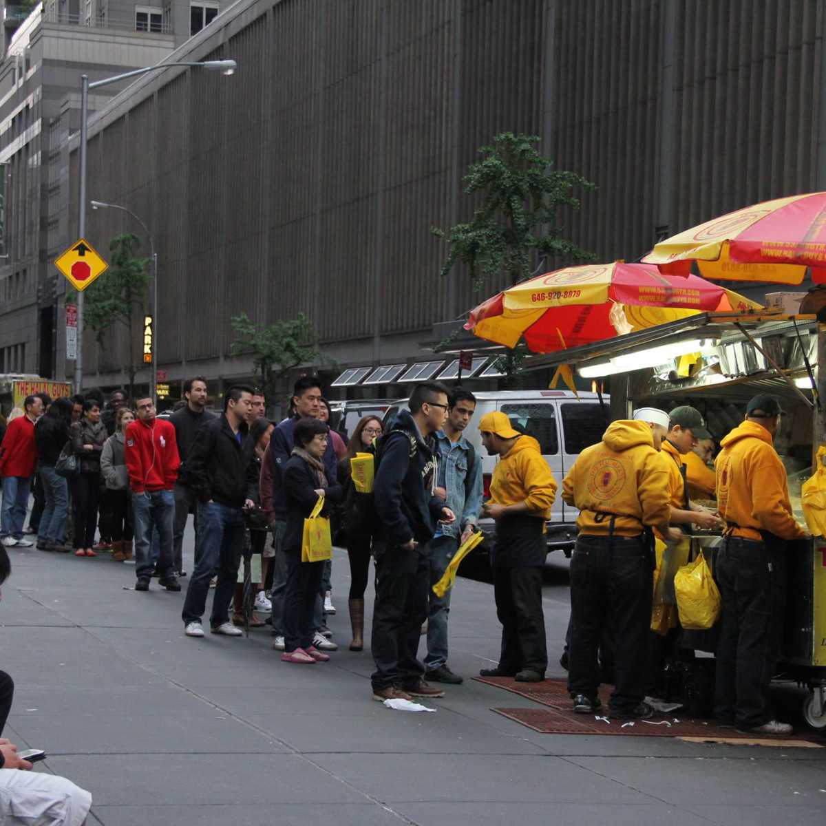 Halal Guys NYC line CROP