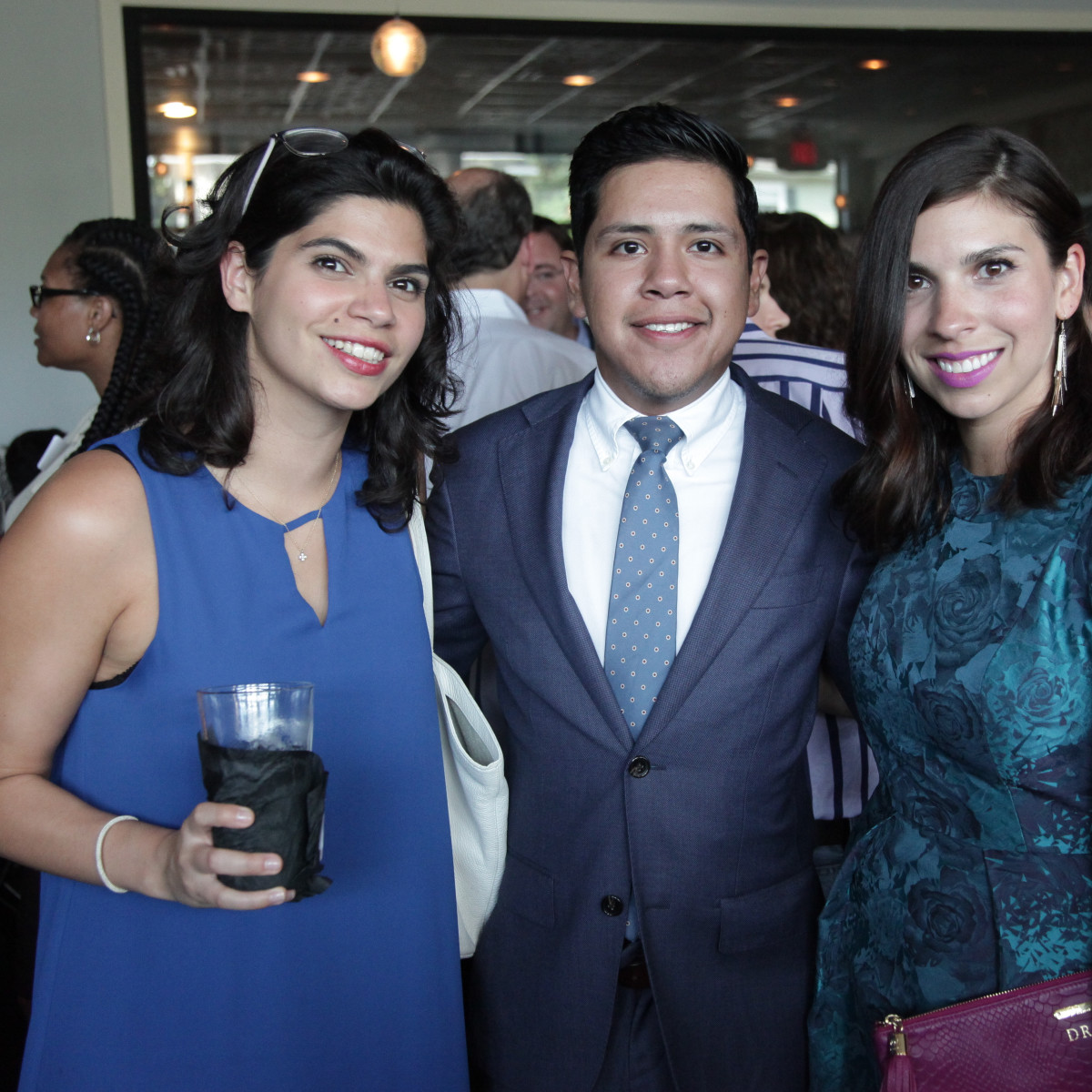 Chris Brown 40th Birthday Elena Giralt, Rolando Paz and Andrea Gallagher