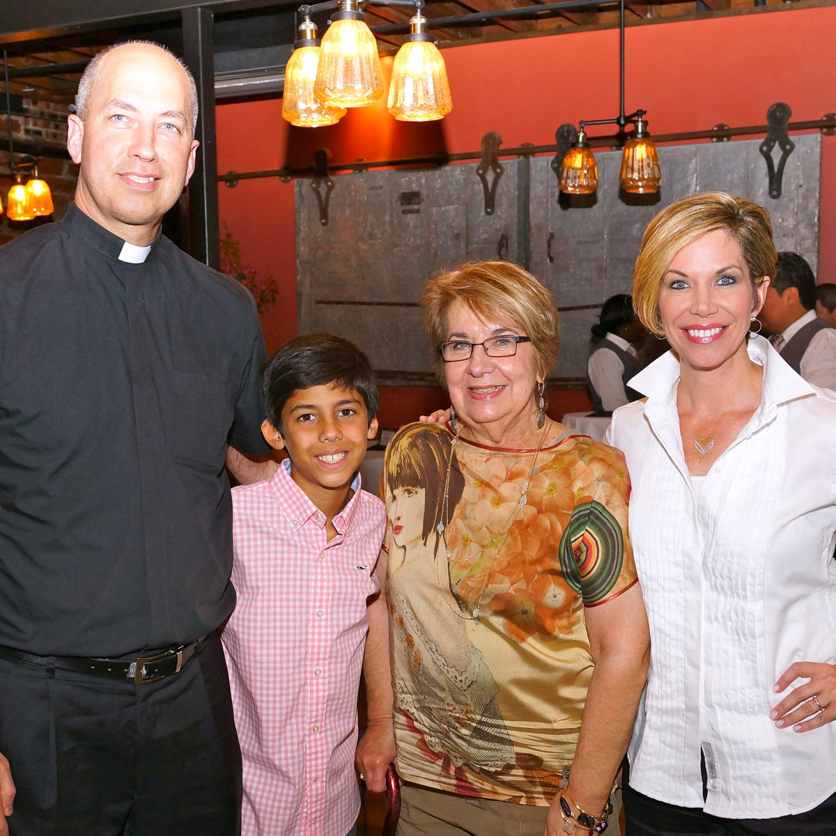 Houston, Roseann Rogers and Lara Bell birthday party, August 2015, Father Joe Rogers, Nikhil Shah, Judy Rogers, Roseann Rogers