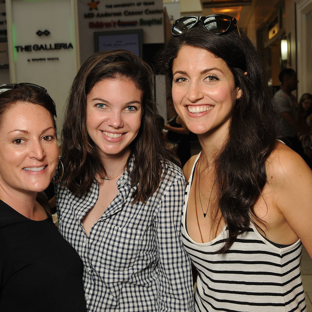 News, Shelby, MD Anderson Back to School, August 2015. Vickie Snow, McKena Kovar, Amara DePaul