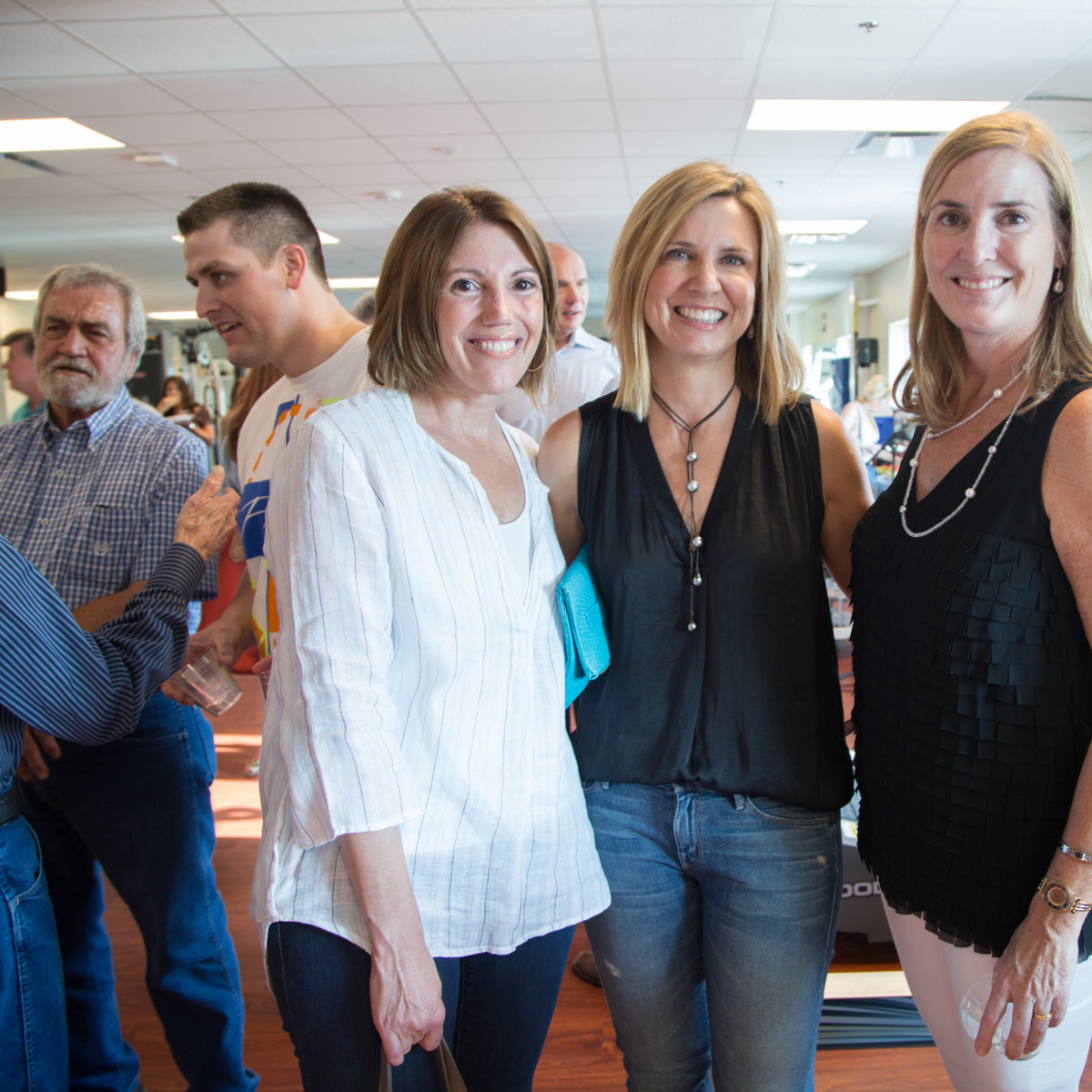 News, Shelby, Luv Ya Blue party, August 2015, Cindy Keene, Judy Stanley, Angela Koch.