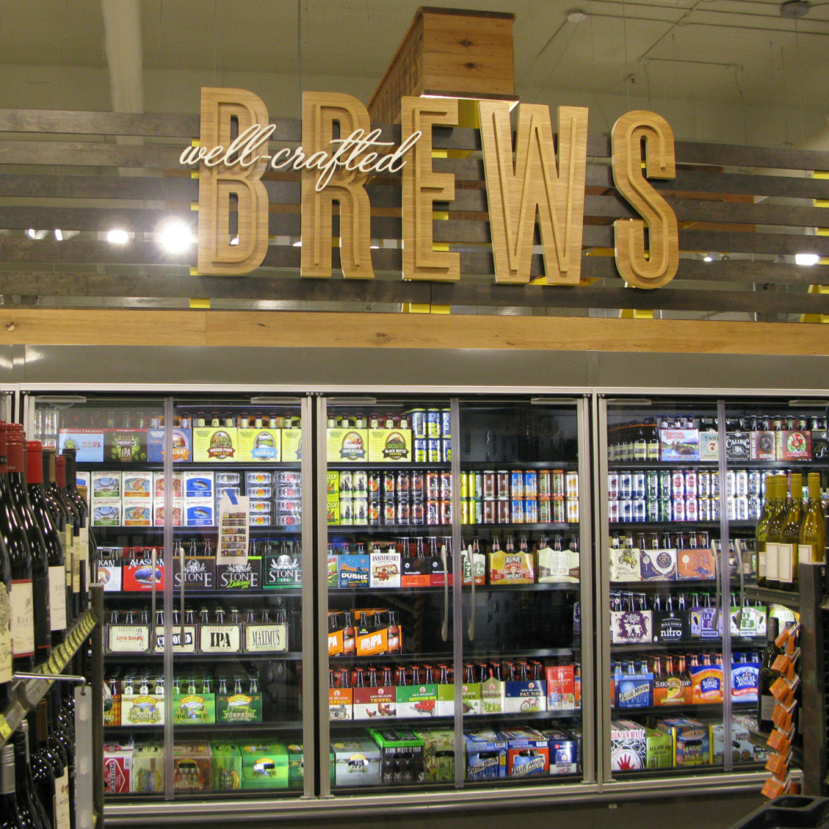 Whole Foods beer case