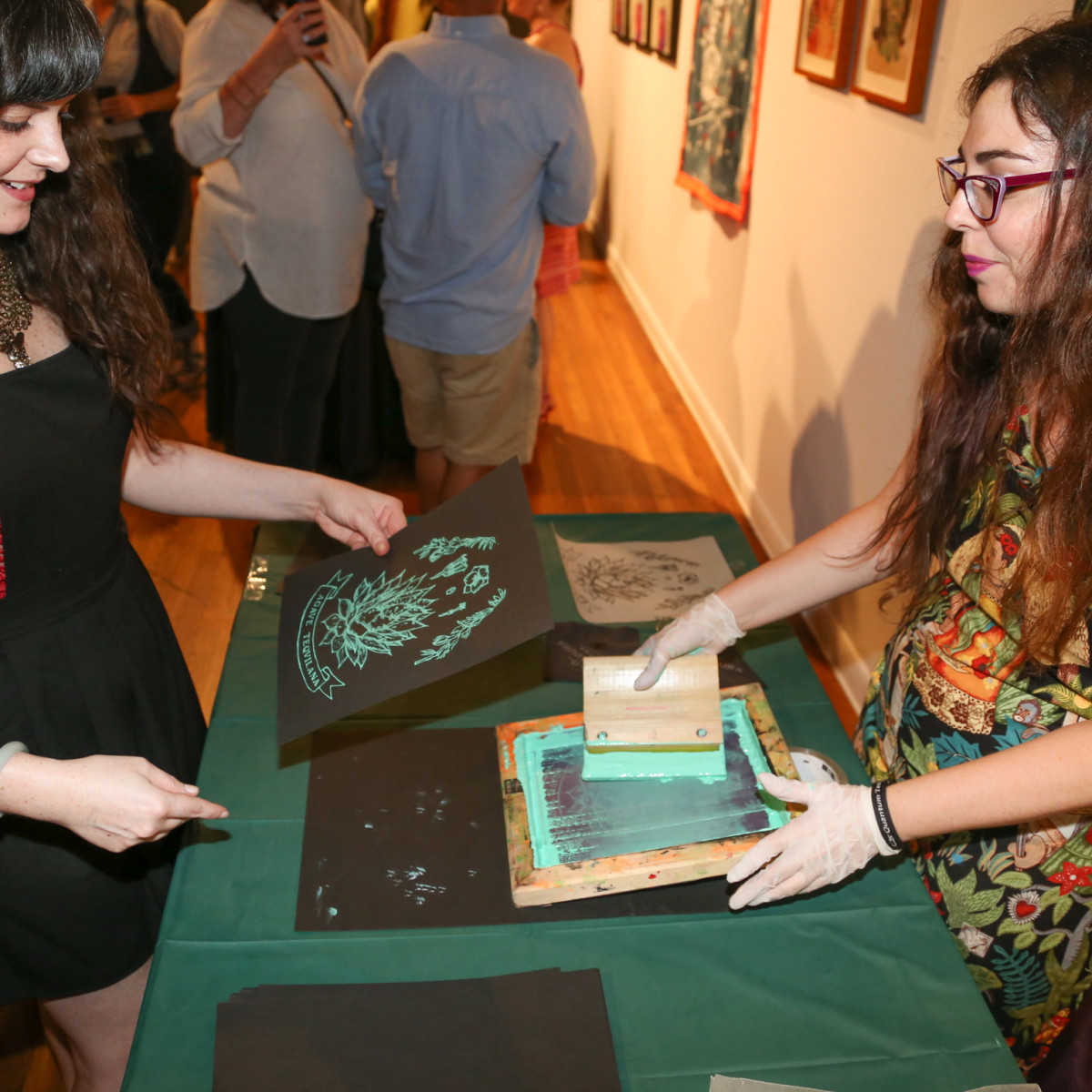 CultureMap Austin Art + Tequila at Mexic-Arte Museum Live Screen Printing