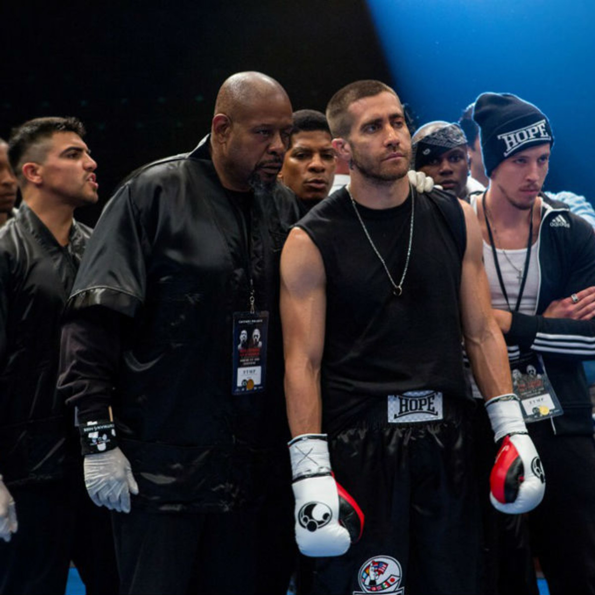 Forest Whitaker and Jake Gyllenhaal in Southpaw