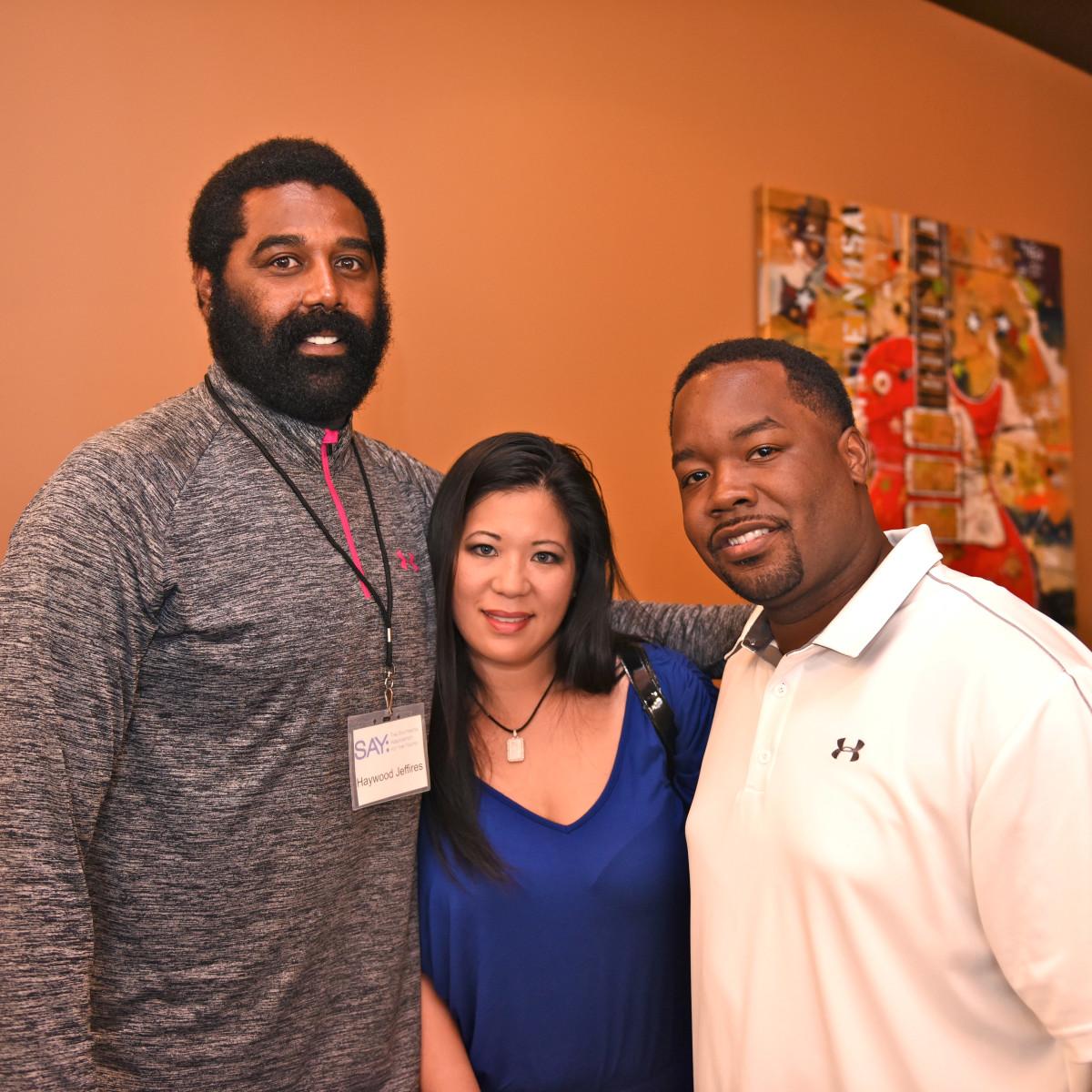 Houston, George Springer All-Star Bowling Benefit, July 2015, Haywood Jeffries, Lisa Velasquez, Rob Sammons