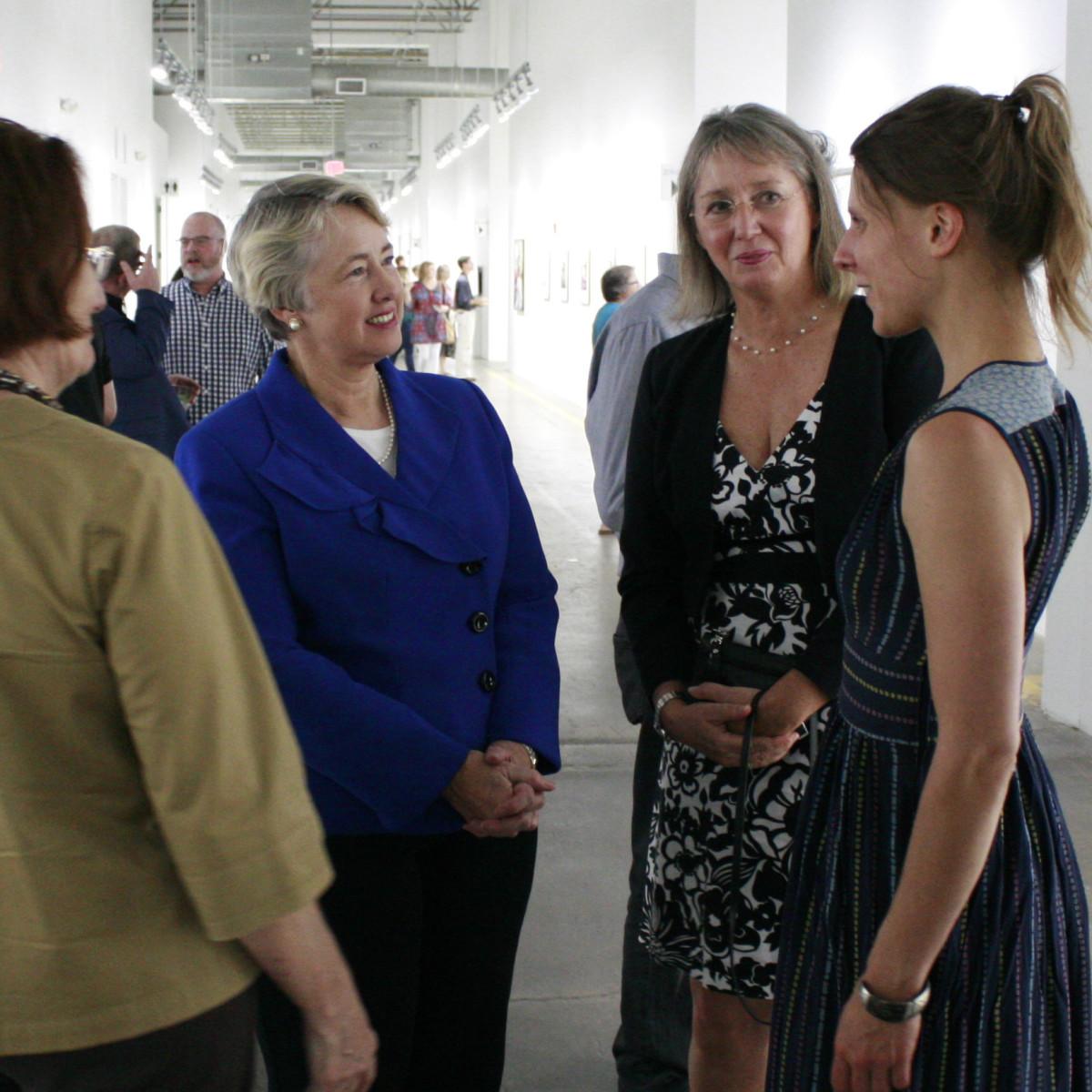 FotoFest Opening Reception Annise Parker, Ricarda Redeker, Anna Charlotte Schmid