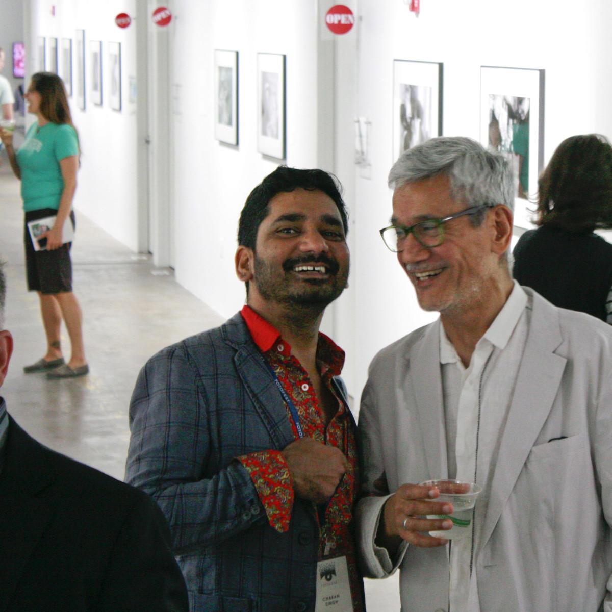 FotoFest Opening Charan Singh and Sunil Gupta