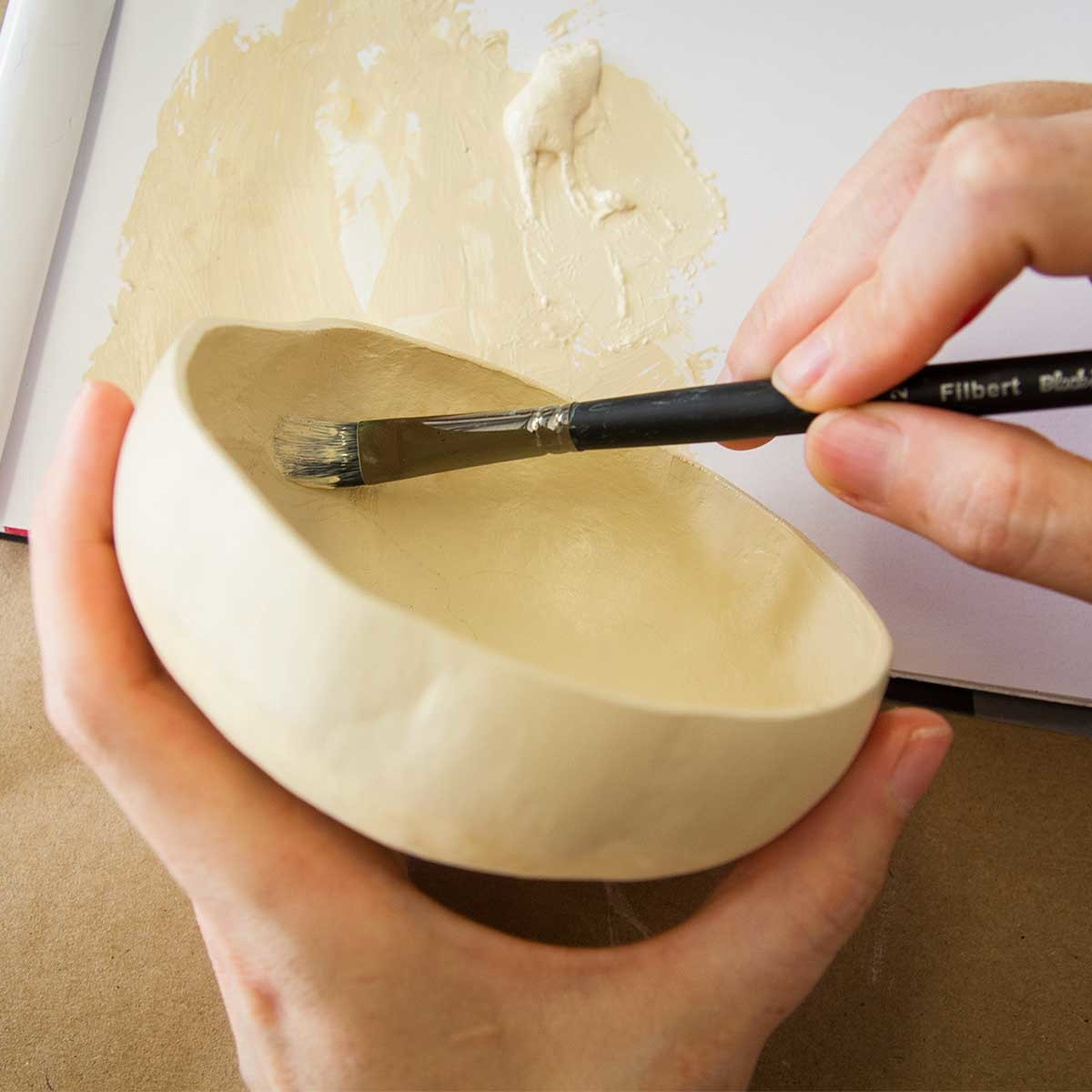 Photo of bowl being painted