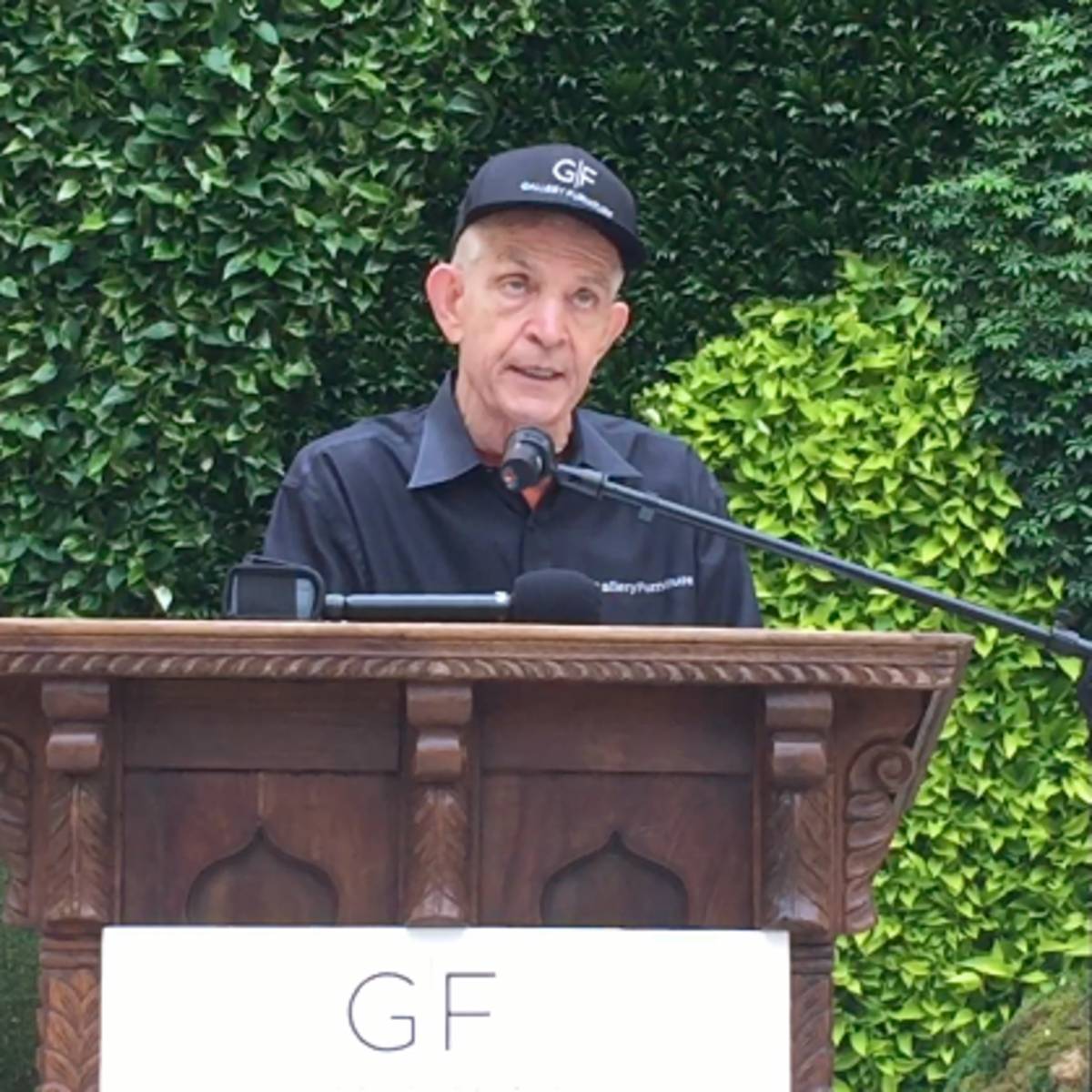 Houston, Gallery Furniture Grand Parkway Opening, June 2015, Jim McIngvale speaking