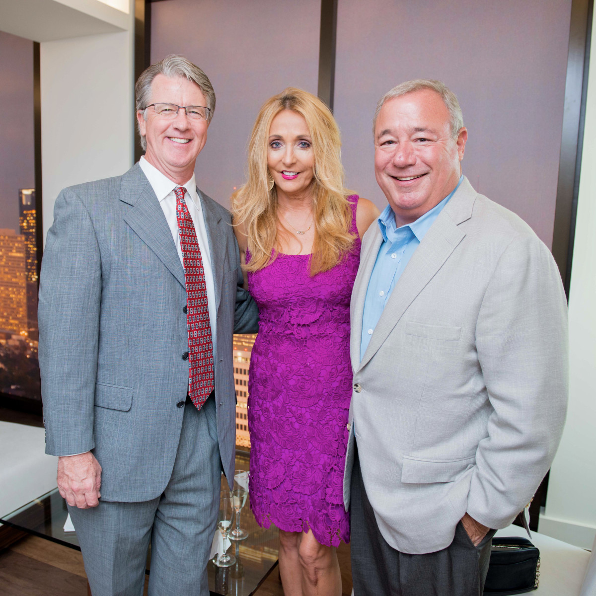 Houston, The River Oaks High Rise Preview Party, June 2015, John Hammond; Pamela McGlashen; Kirk Tate