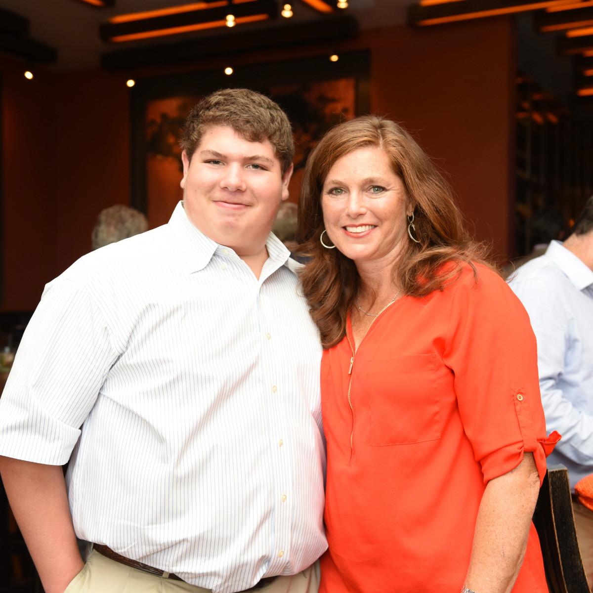 Houston, George Springer Bowling Benefit Kick Off, June 2015, Matthew and Melissa Deayala