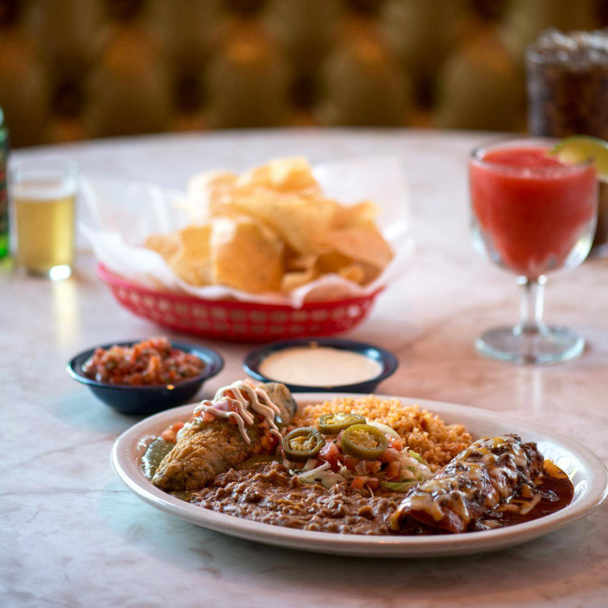 Tex-Mex combo plate at Chuy's in Dallas