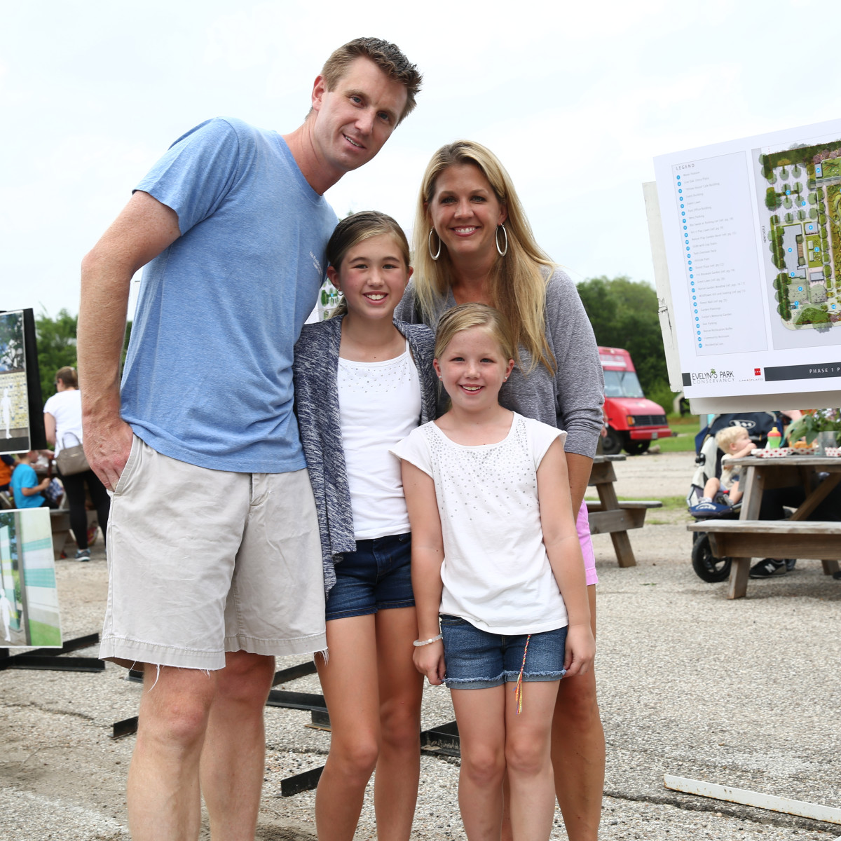 News, Shelby, Evelyn's Park groundbreaking, June 2015, Rob Johnson, Elise Johnson, Norine Johnson, Claire Johnson
