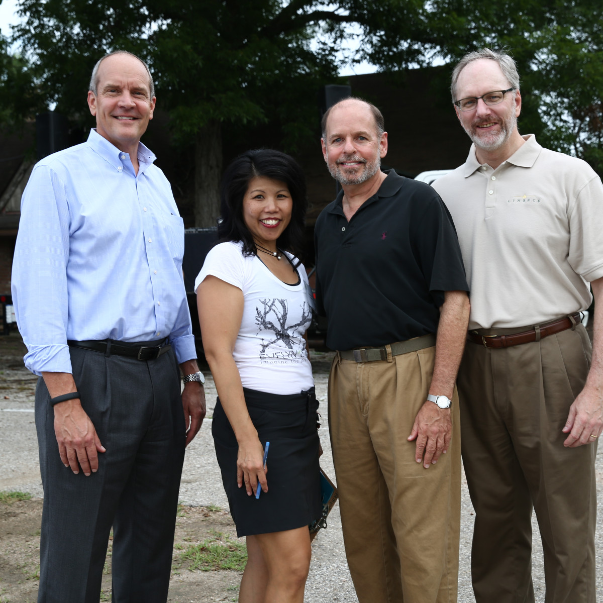 News, Shelby, Evelyn's Park groundbreaking, June 2015, David Stueckler, Patricia Ritter King, John Gabriel,Tom Butler