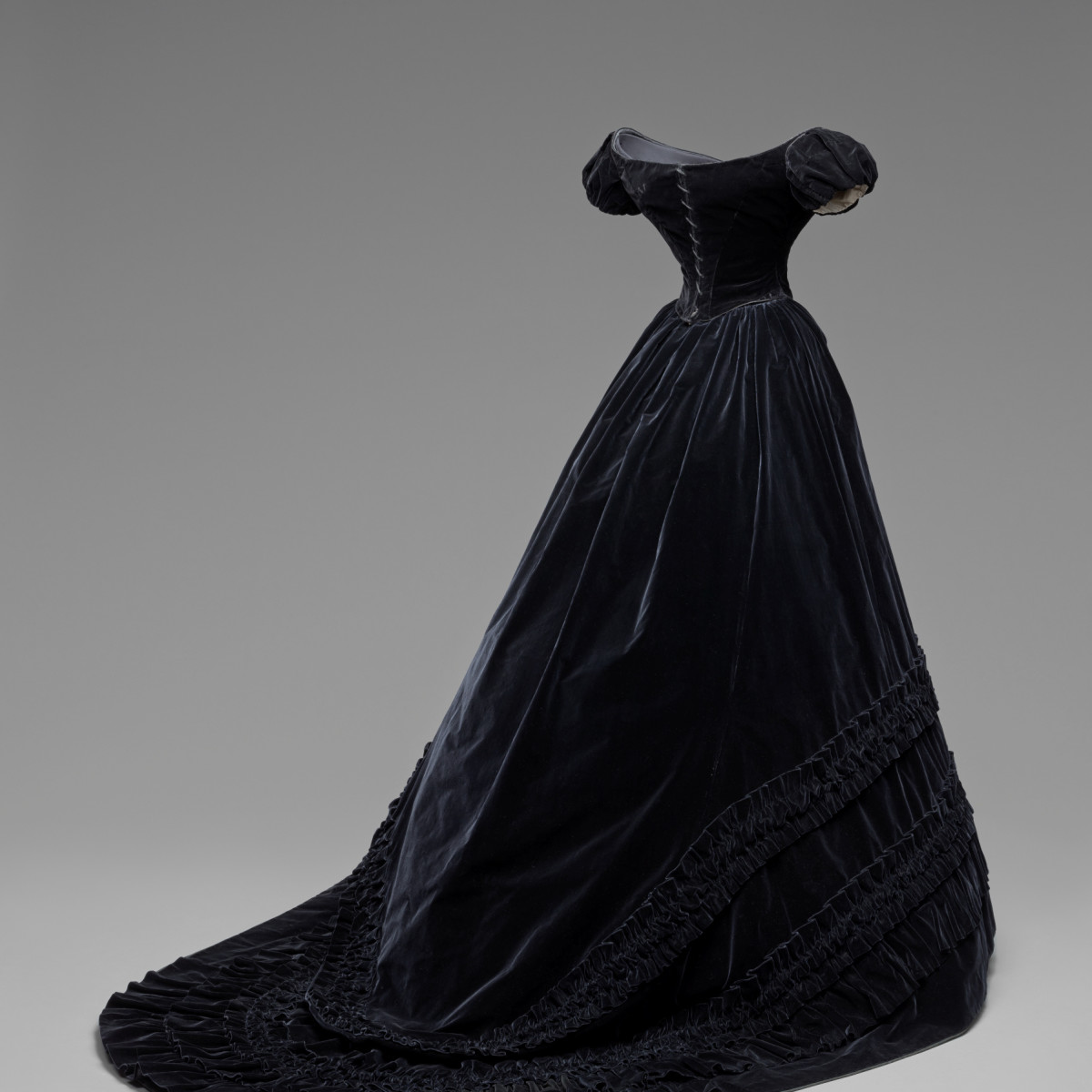 Habsburg Splendor Black Velvet Dress