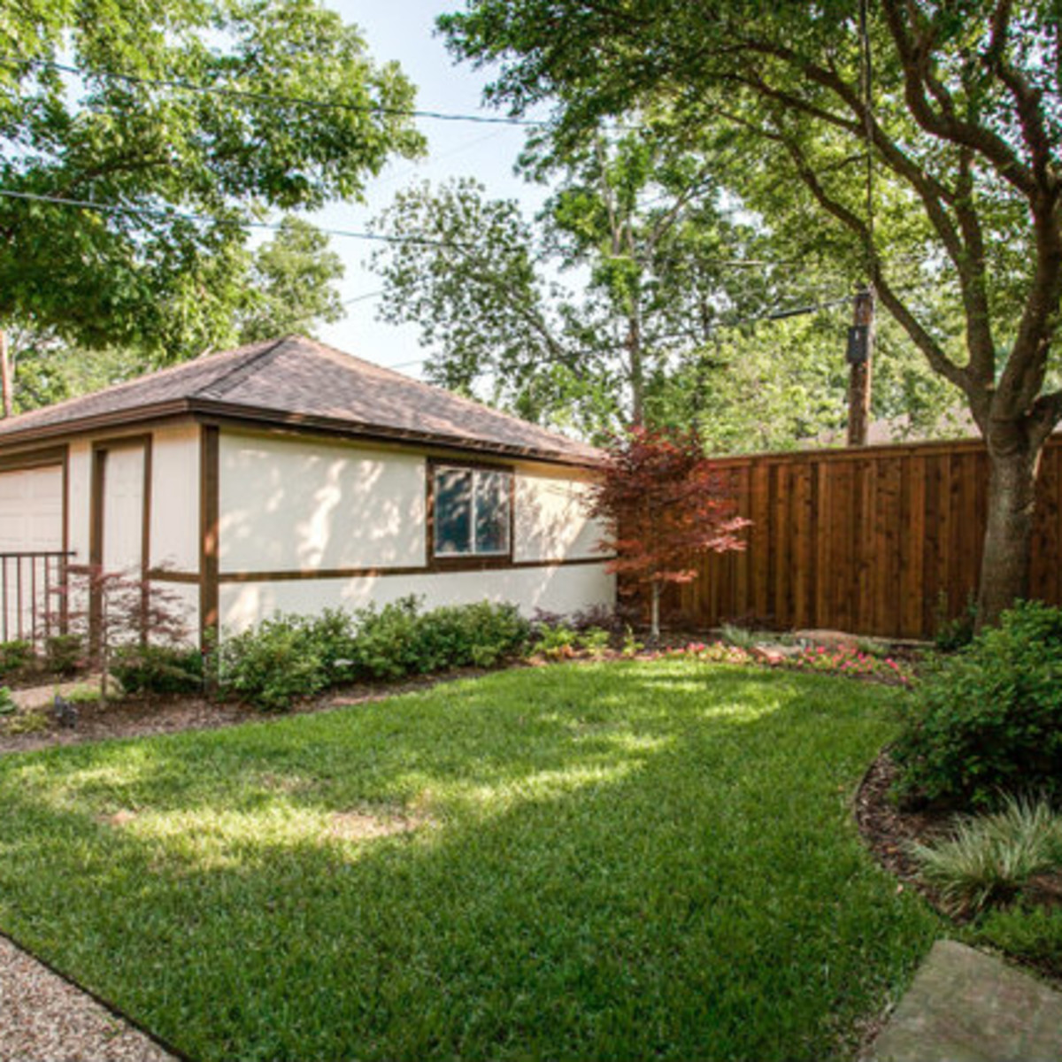 Backyard at 811 Monte Vista Dr. in Dallas