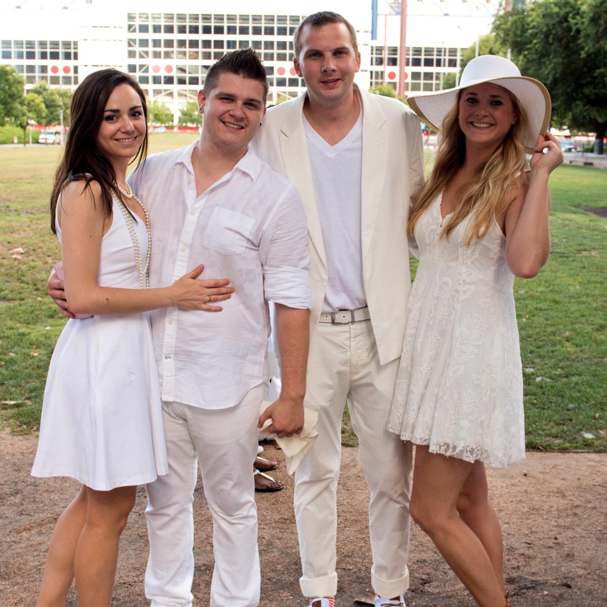 Houston, Diner en Blanc, June 2015, Mercedes Gomez, Noah Coffelt, Aaron Kane, Sarah Brissey