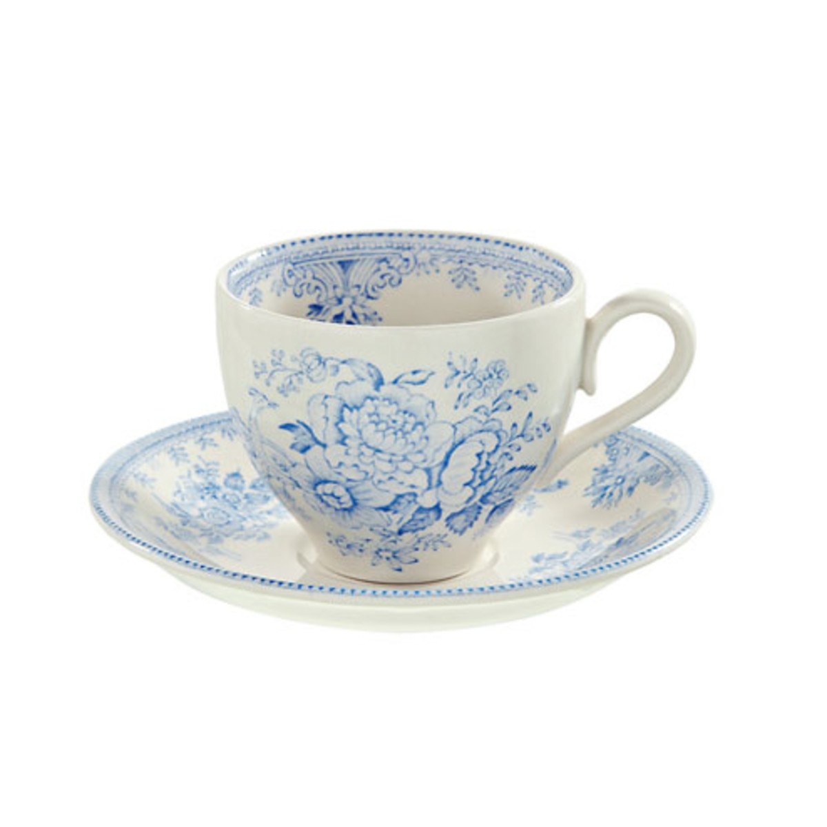 British Isles Burleigh Pottery teacup and saucer