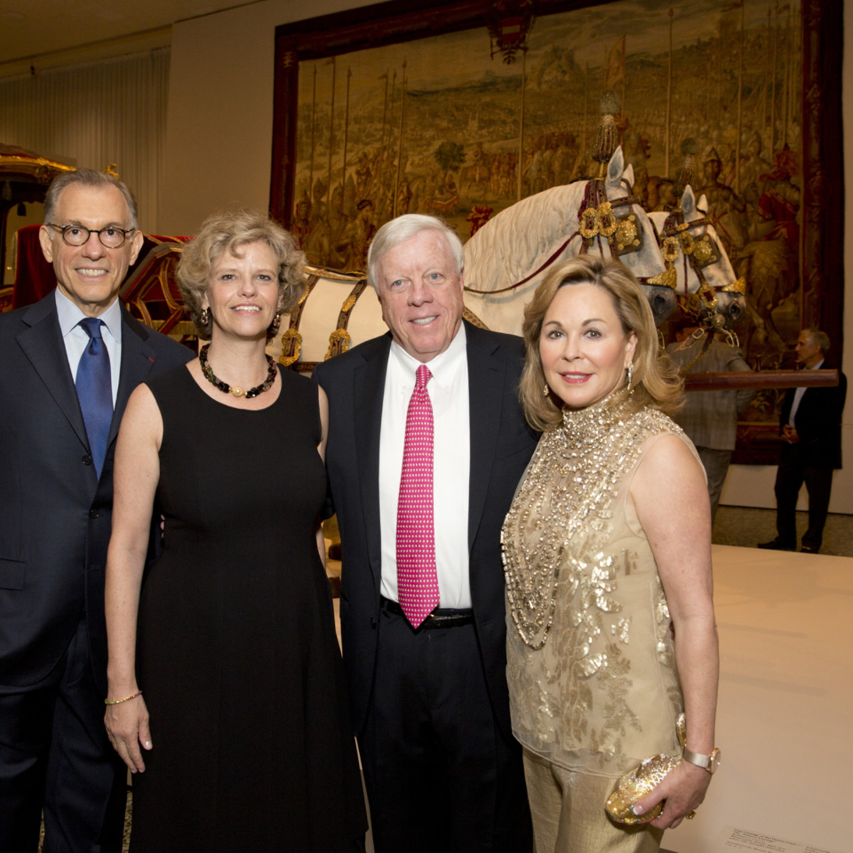 MFAH Habsburg Splendor dinner Gary Tinterow; Sabine Haag; Rich and Nancy Kinder