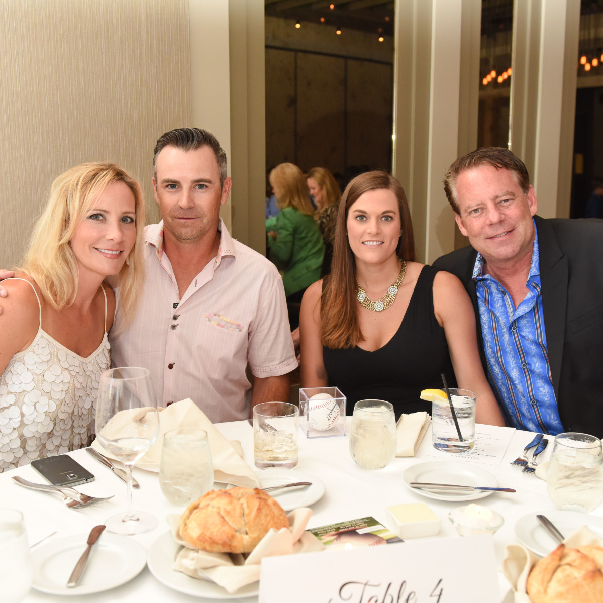 News, Roger Clemens at Vallone's, June 2015,Nikki Simpson, Scott Bean, Mary Pickle, & Richard Fox