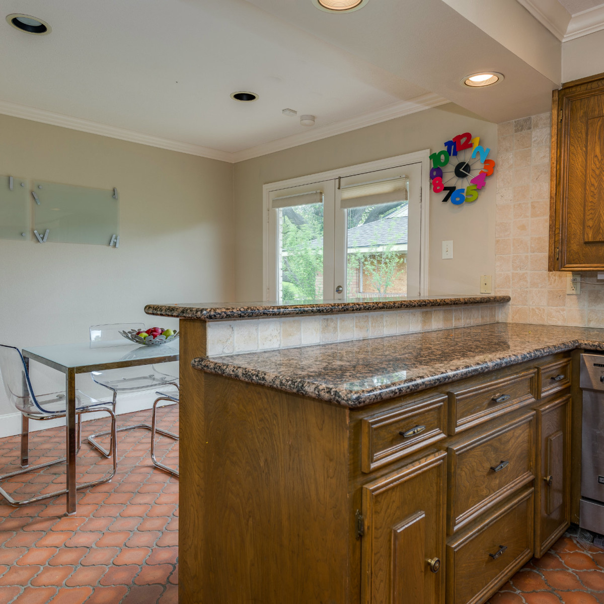 Eat-in kitchen at 4224 Briar Creek in Dallas