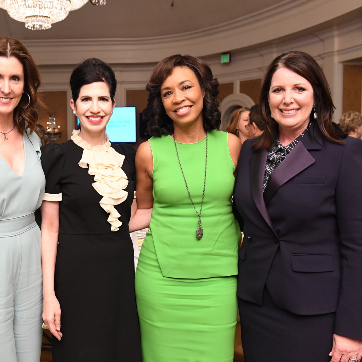 Phoebe Tudor, Kelli Cohen Fein, Gina Gaston and Julie Roberts at Passion for Fashion luncheon