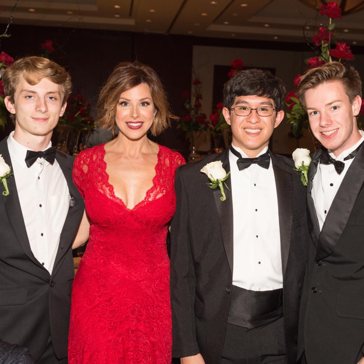 Dominique Sachse with Virtuosi students at Virtuosi Gala
