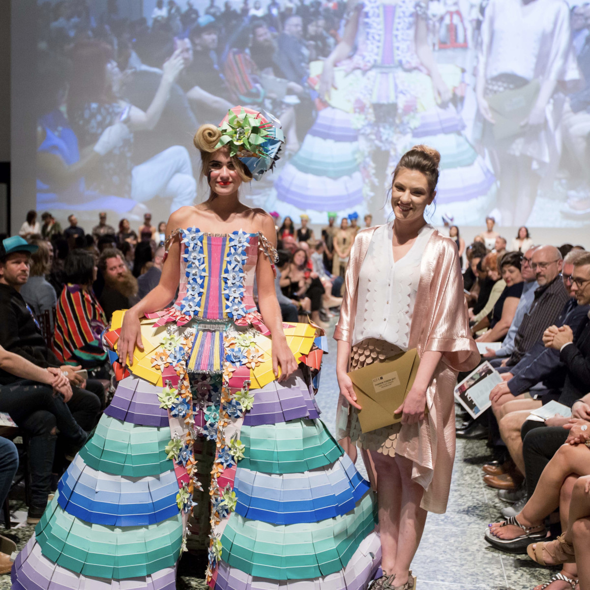 Houston, MFAH Fashion Fusion 2017, May 2017, Kyndall Bollmeyer with model