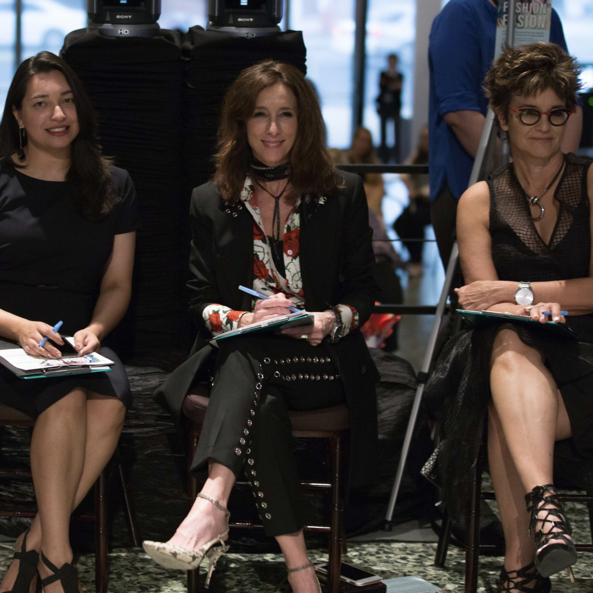 Houston, MFAH Fashion Fusion 2017, May 2017, Judges Sameera Faridi; Leah Little Hale; Mari Carmen Ramirez
