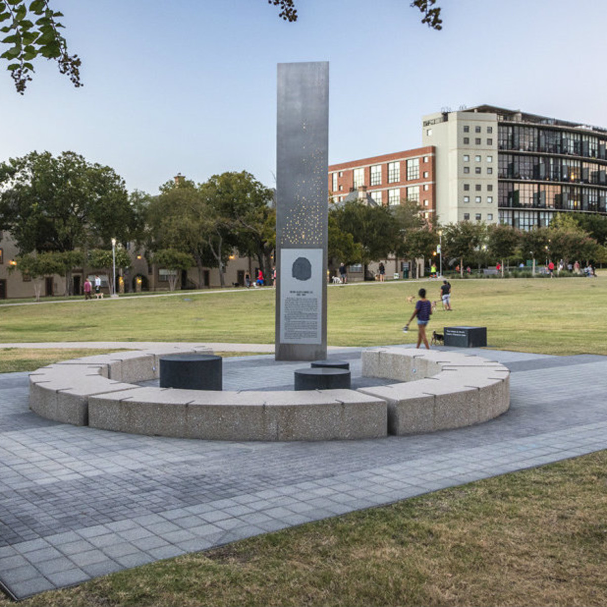 Memorial Plaza obelisk in Dallas