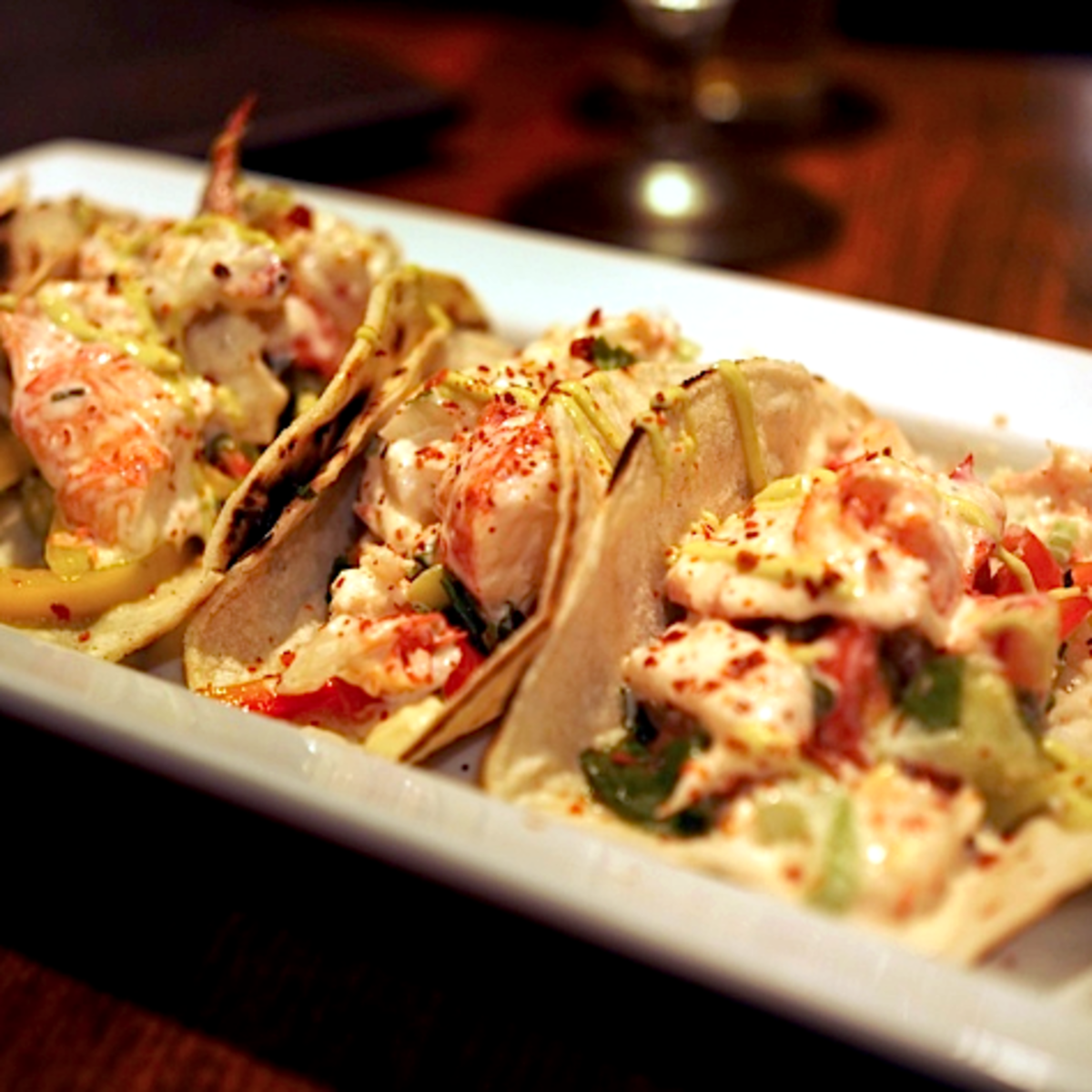 Jonathan's the Rub lobster tacos