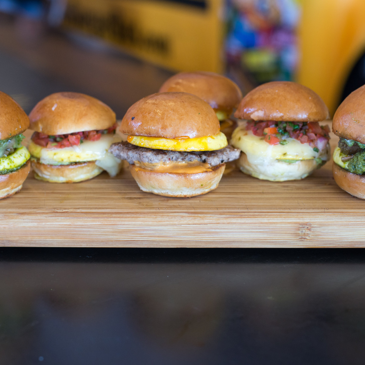 Bernie's Burger Bus breakfast sliders
